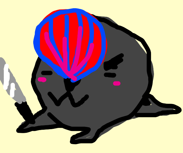 Beachball-Seal Is coming for you with a Knife