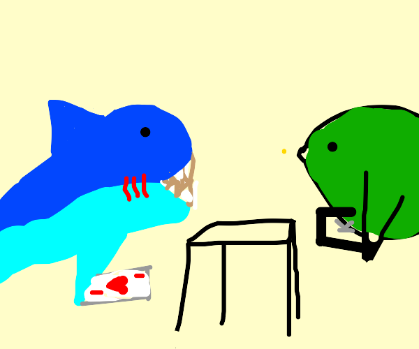 Shark lost Poker match to a fish