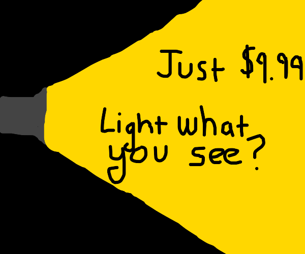 Flashlight advertisement
