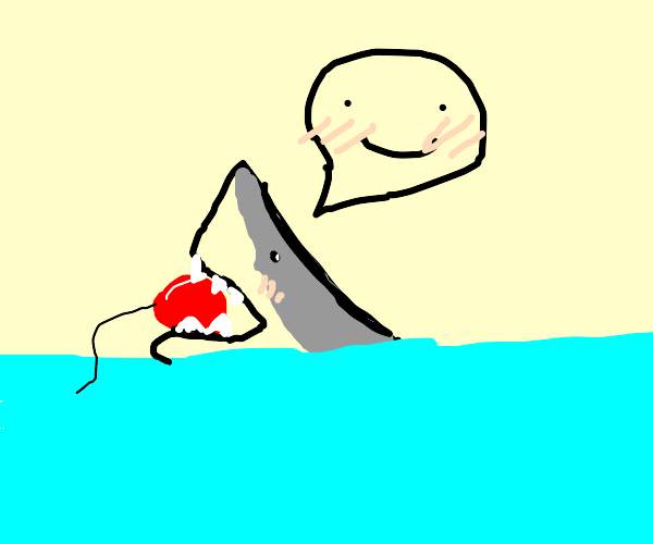 Shark likes the taste of ballon