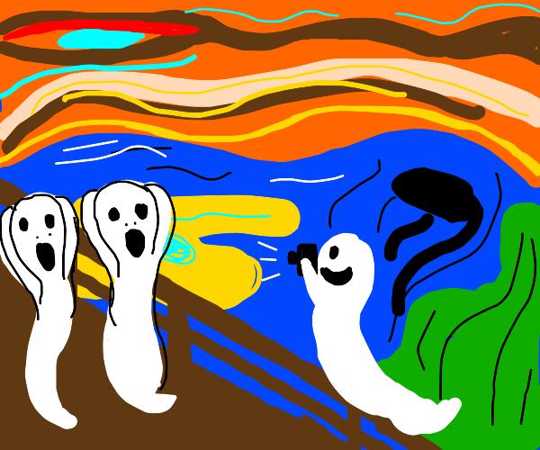 Ghosts doing Edvard Munch screams