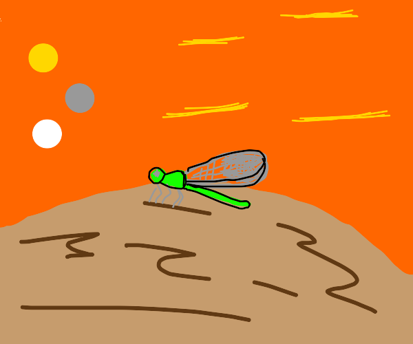 Damselfly on an Alien Planet