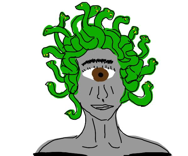 medusa as a cyclops