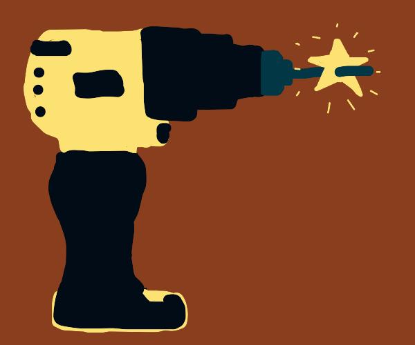 star on a drill