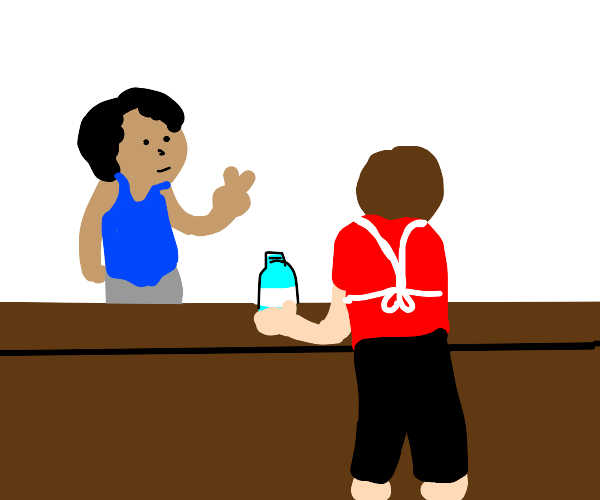 Person wants two bottles
