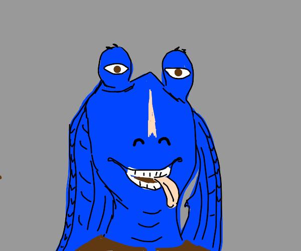 jar jar binks is now blue