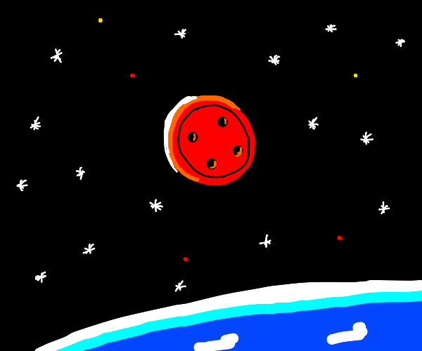 Button in Space