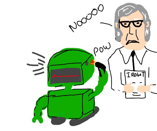 Robot breaks the third laws of robotics