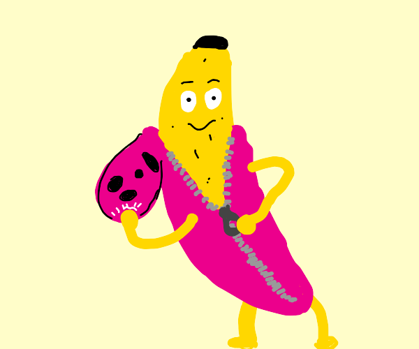 Pink Guy but he's a banana