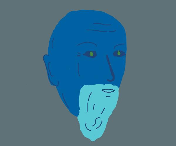 Bearded Blue Man