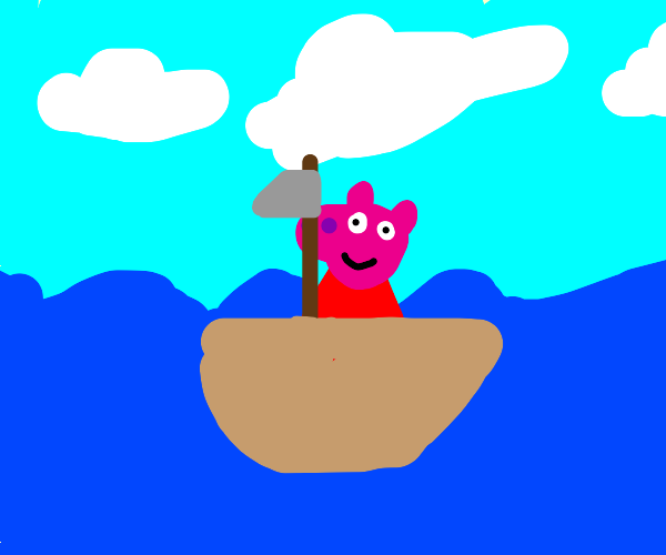Pepa the pig  on a boat