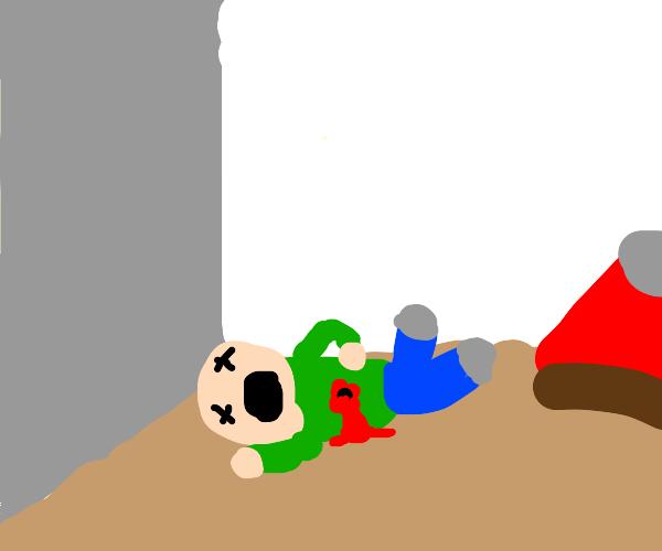 Bedroom crime scene