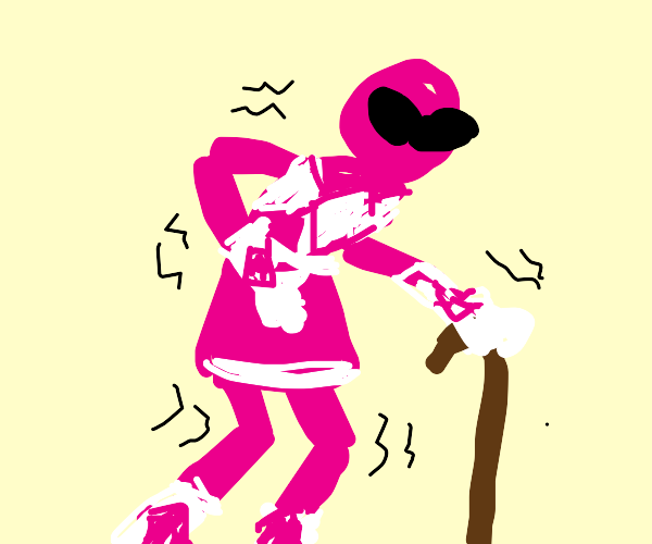 Pink Power Ranger is old