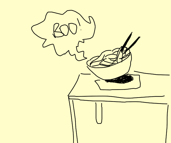 """Noodle says """"Boo!"""""""
