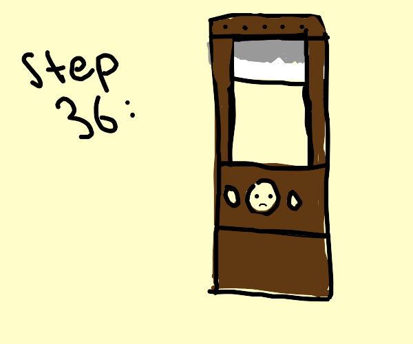 Step 36: You are suddenly in a guillotine