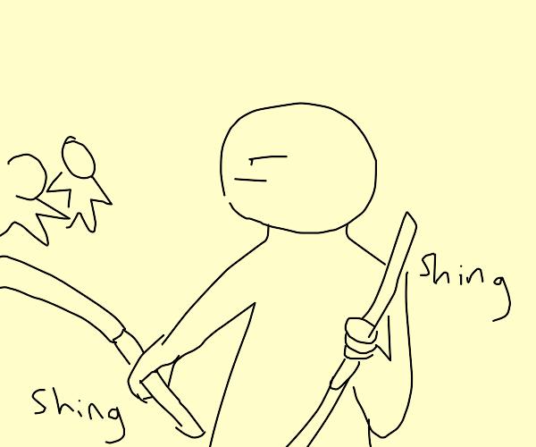Fight with katanas