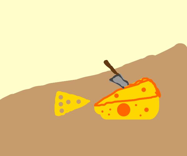 Knife to meet ya (knife cutting cheese)