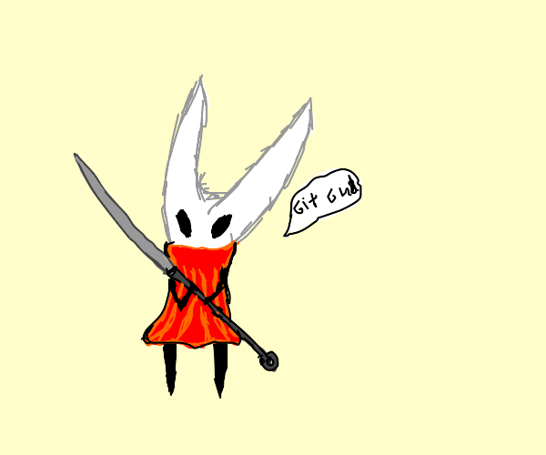 hornet (hollow knight) saying git gud