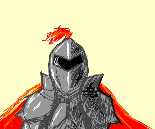 Knight with broad shoulders