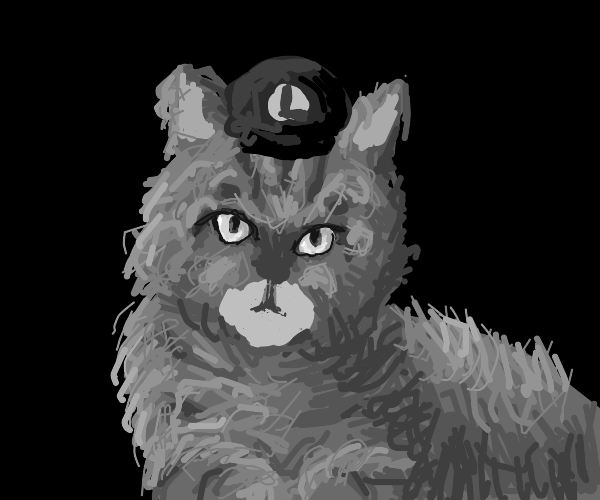 Luigi as a cat