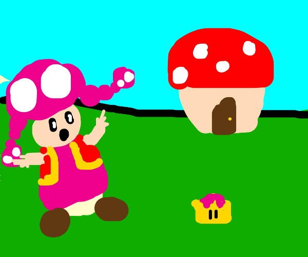 Toadette finds a tiny crown
