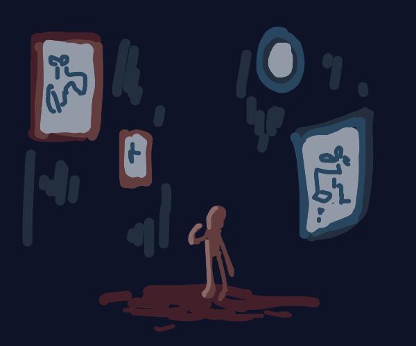 Dark Alley of Faucet Paintings