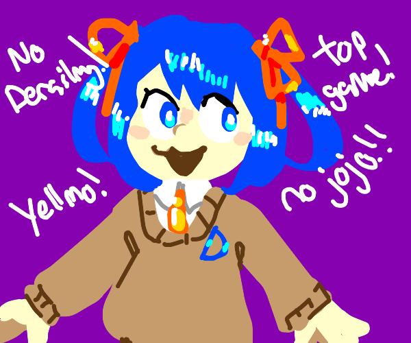 Drawception D but a cute Anime Girl