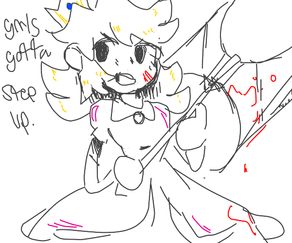Princess with a bloody axe