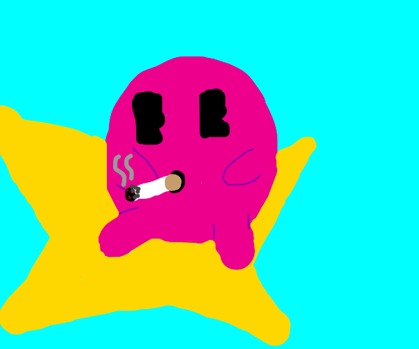 Kirby smoking