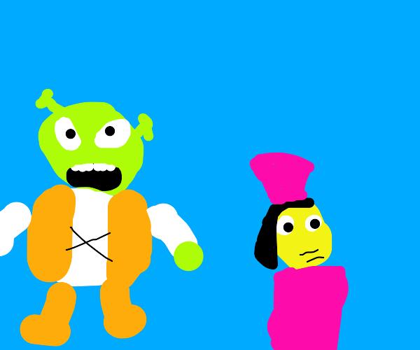 Shrek and farquaad