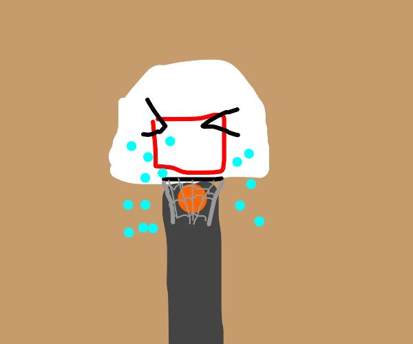basketballer crying as he scores