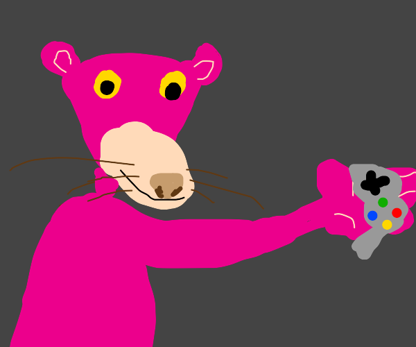 Pink Panther is a gamer