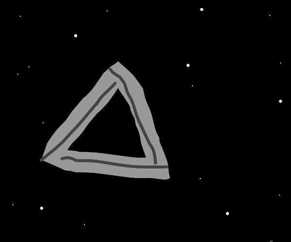 Optical illusion (3D triangle)