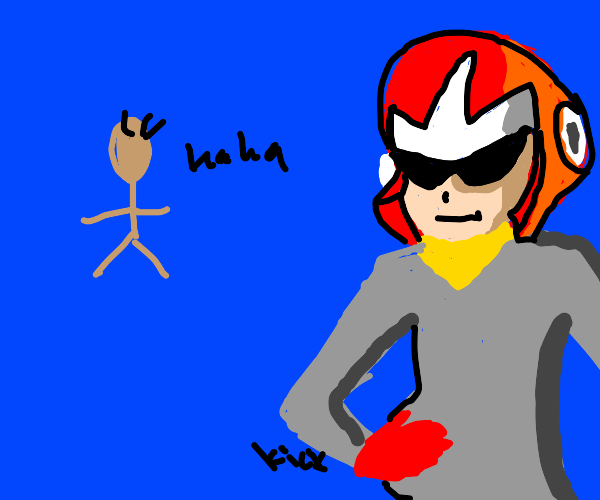 some dude laughs at crying pregnant protoman