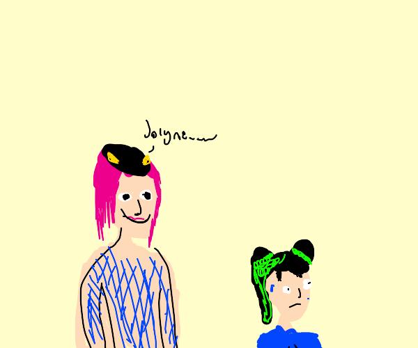 Anasui makes Jolyne Uncomfortable (JJBA)