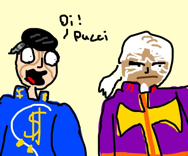 okuyasu says 'oi pucci' (jojo)
