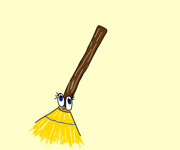 Broom with eyes