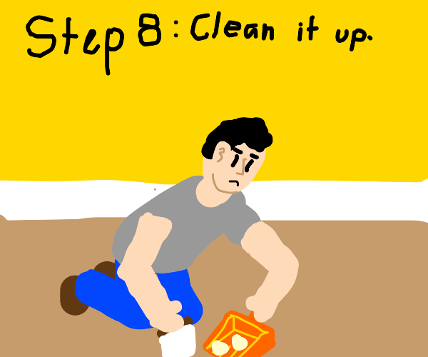 Step 7: Break all the dishes