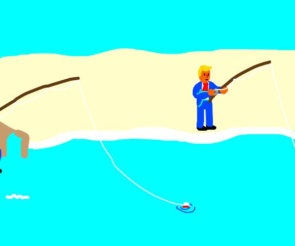 Trump goes fishing?