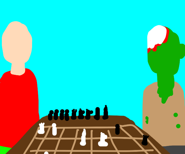 Playing chess with a zombie