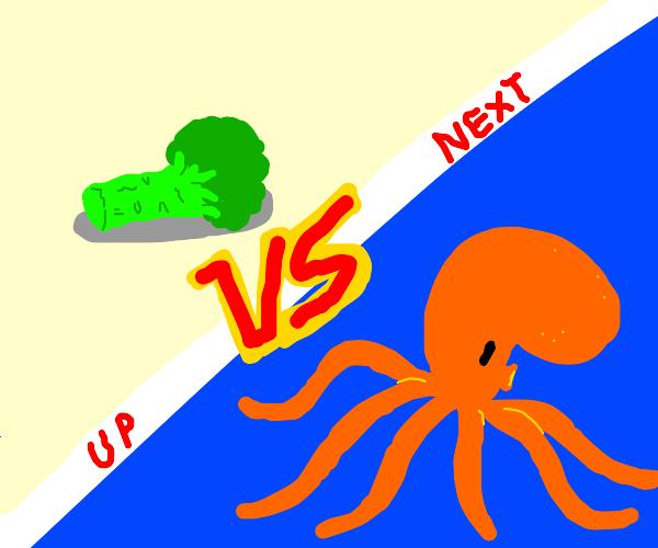 Broccoli vs Octopus (WHO WILL WIN?)