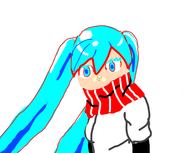 Miku cosplaying as Papyrus (undertale)