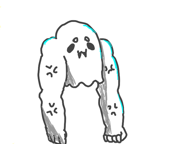Ghost dude with fangs and limbs