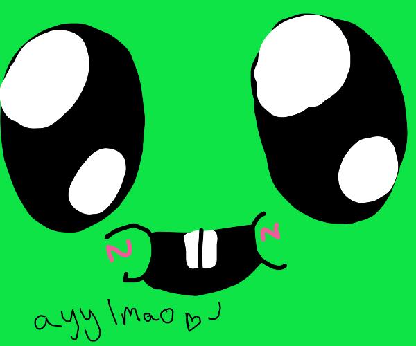 alien baby up-close