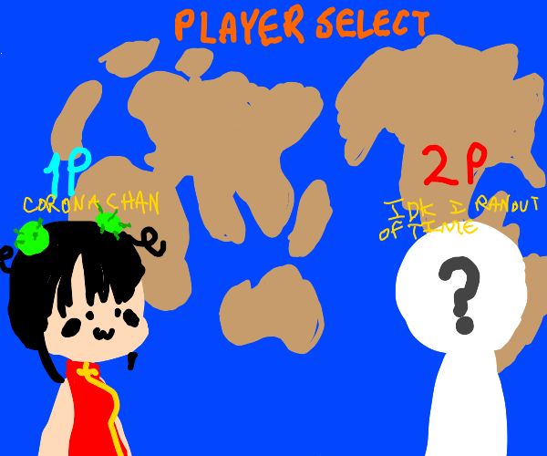 Coronavirus as a video game character