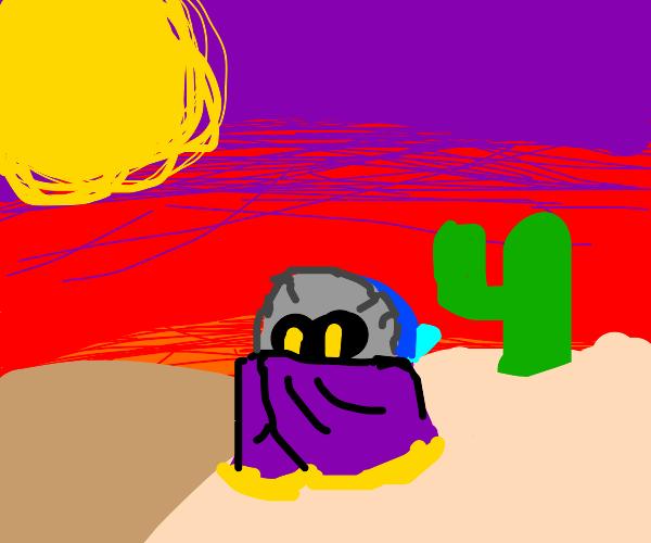 Meta Knight in a Desert