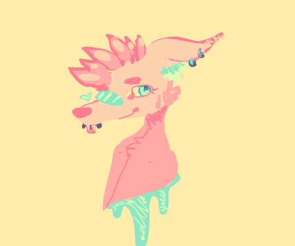 cute punk dear furry
