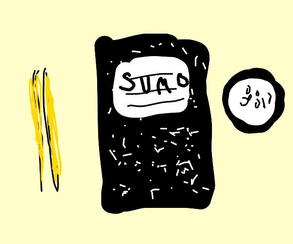 sumo wrestler notebook