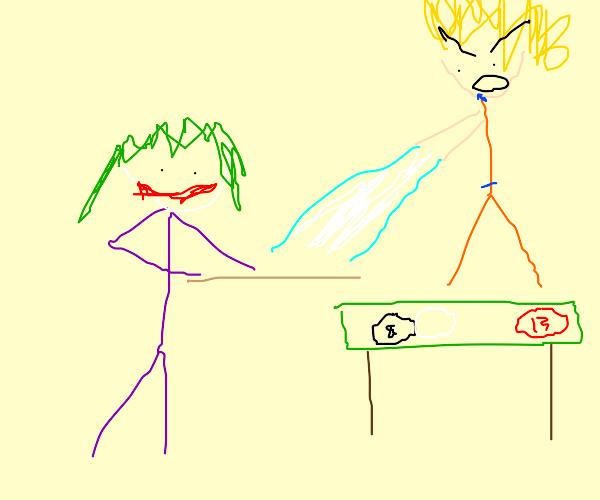 Joker playing Pool in Anime Jail