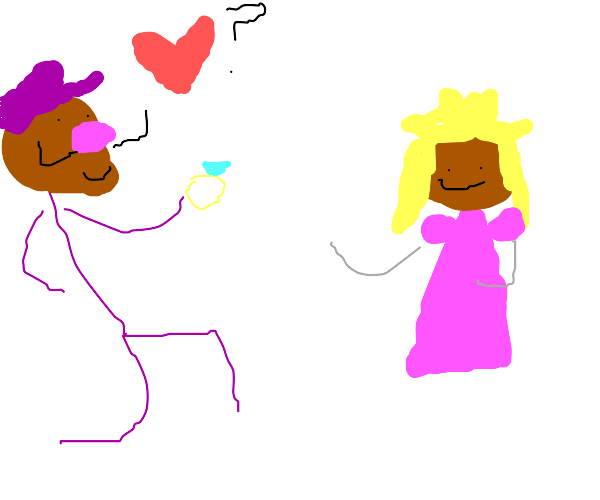 Waluigi proposes to princess peach